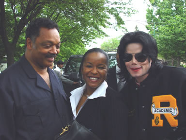 Rev. Jessie Jackson with Michael Jackson