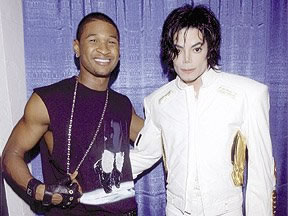 Usher and Michael Jackson