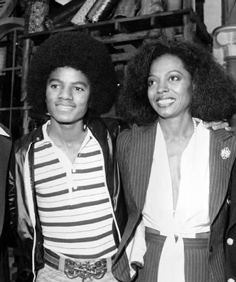 Diana Ross and Michael Jackson New York City, Sept. 28, 1977