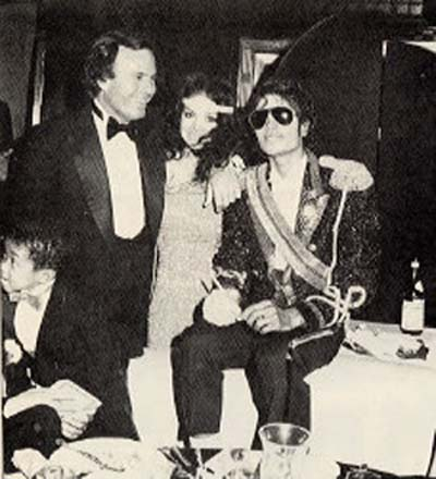 Julio Iglesias with Michael Jackson