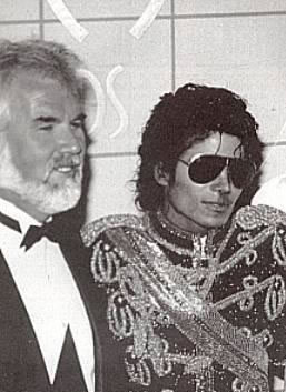 Kenny Rogers and Michael Jackson