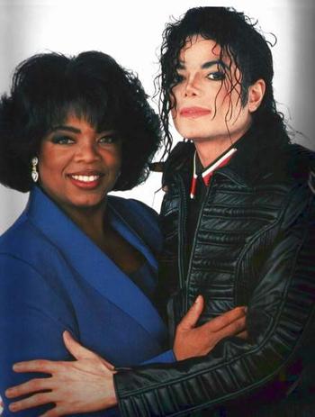 Oprah Winfrey and Michael Jackson