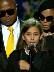 Paris Michael Katherine Jackson addresses the crowd at the Michael Jackson public memorial July 7 2009