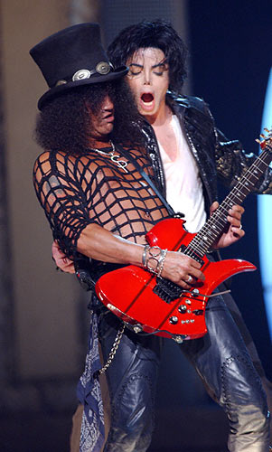 Slash and Michael Jackson